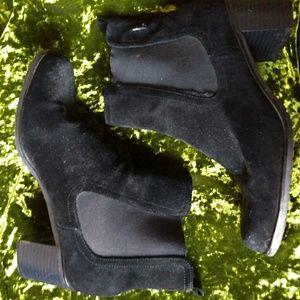 Vintage Suede Sock Boots